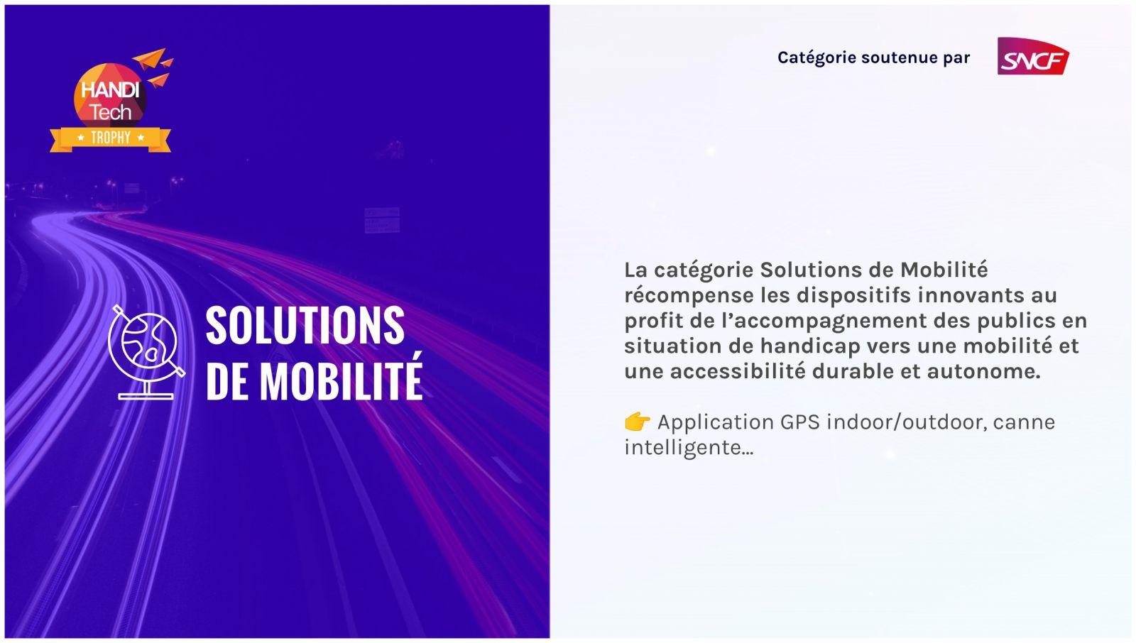 catégorie solutions de mobilité
