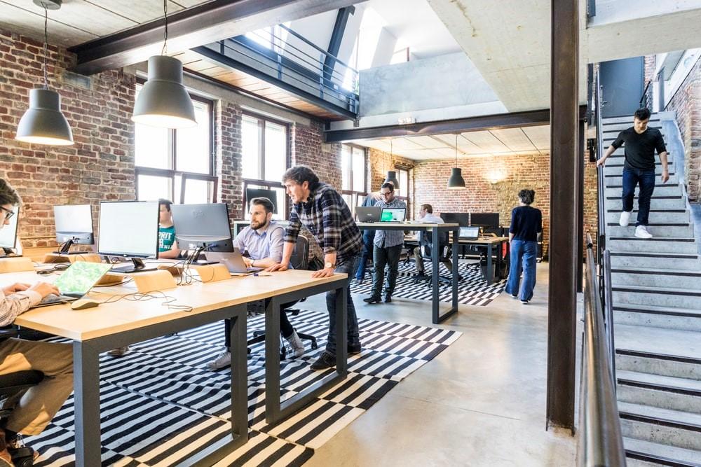 Espace de coworking pour les salariés d'entreprise