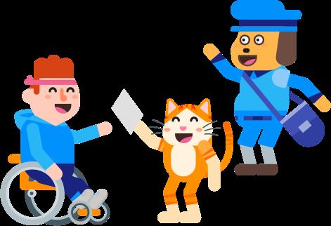 Handicap et perte d'autonomie : Merci Facteur facilite votre envoi de courrier !