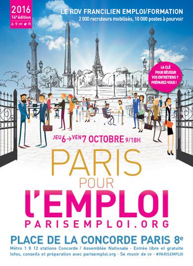 Les 6 et 7 Octobre, rendez-vous au Salon Paris pour l'Emploi